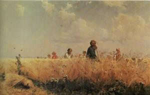 Mowers. Artist G. Myasoedov. 1887