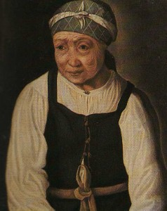 Serf peasant. Unknown Artist. The middle of the XIX century.