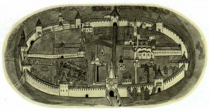Plan Novgorod Kremlin. Detail icon in the XVI.
