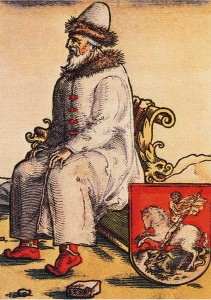 German engraving. XVI century.