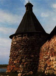 Solovki Monastery. Corner St. Nicholas Tower. XVI century.