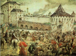 The expulsion of Polish invaders from the Moscow Kremlin in 1612 Artist E.Lissner