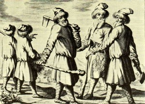 Engraving from the book by A. Oleary. XVII.