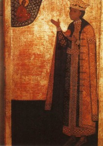 Holy Prince Dmitry, son of Ivan the Terrible. Icon of XVII century.