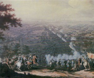 Battle of Poltava on 27 June 1709.