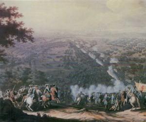 Battle of Poltava on 27 June 1709.