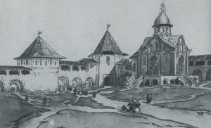 Reconstruction. Architectural drawing. D. Sukhov, 1936.