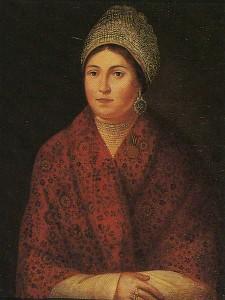 Vasilisa Kozhin - partisan. Artist Smirnov. 1813