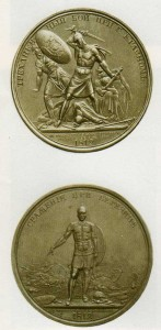 Commemorative coin dedicated to the Patriotic War of 1812 Submitted to the design of F. Tolstoy.