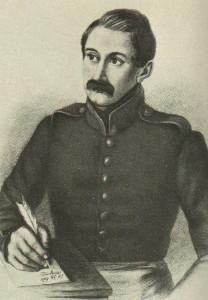 A.I.Polezhayev. Engraving. 1834.