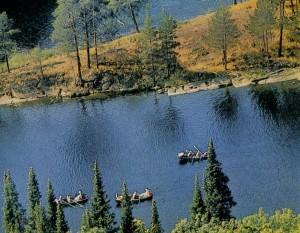 River tourism. Karelia.