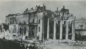 The ruins after the fire of 1873 in Odessa Opera and Ballet House