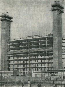 Construction 14-etazhnoge buildings with bearing trunks a method of lifting of overlappings. Leningrad, 1977.