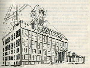 The project of a building of the Central telegraph in Moscow