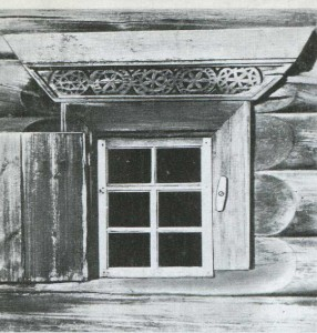 Multiple forms of decoration window casings northern huts
