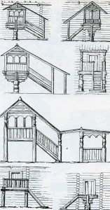 art processing of entrances to a house