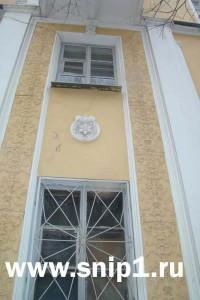 Modelled details on a building