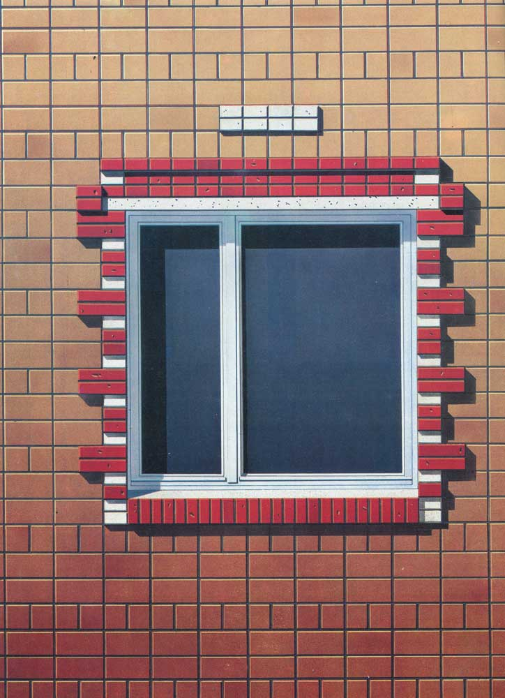 Culture | Brick framing the window opening in the wall of a ceramic ...