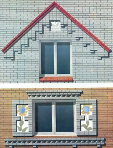 window openings figured brickwork