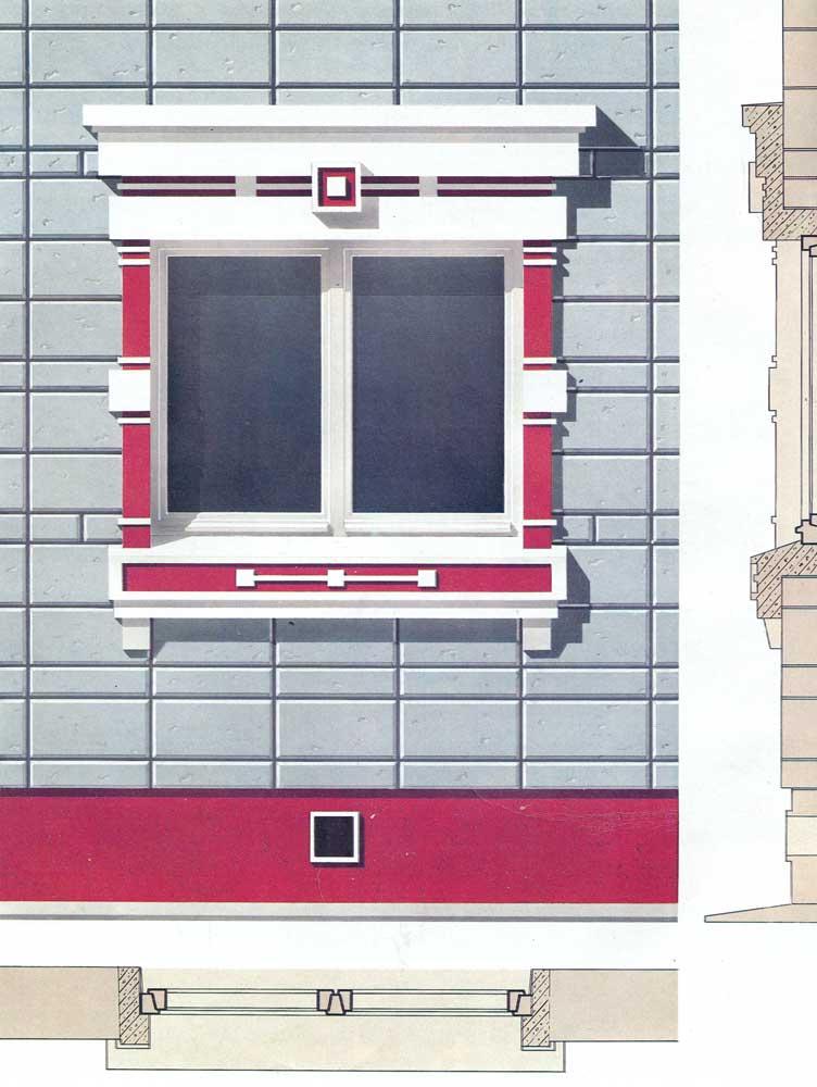 Culture | Decorative window frames of industrial concrete inserts ...