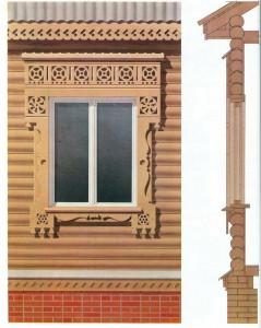 Window casings, in the technique propilovki.