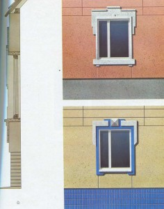 Window frames of houses