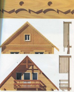 Pediments wooden