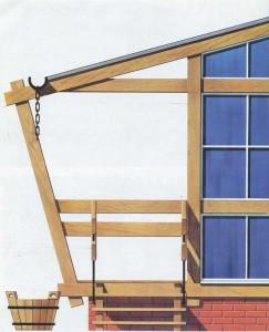 Wooden verandah