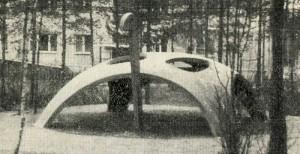 """Turtle"" - a sandbox, shady canopy Climbing device. Playground, Serpukhov."