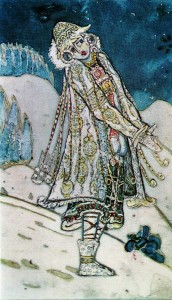 Design for Snow Maiden's dress in A. N. Ostrovsky's Snow Malden.