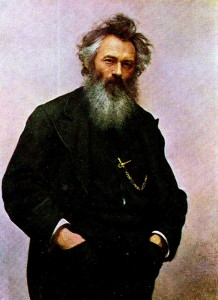 Kramskoi (1837 - 1887). Portrait of the Artist Ivan Shishkin. 1880