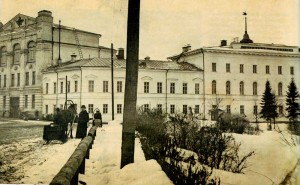 The building of classic men's gymnasium