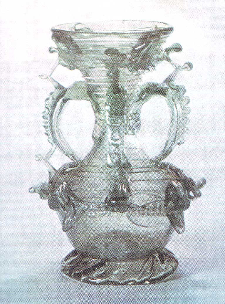 Four-handled vase