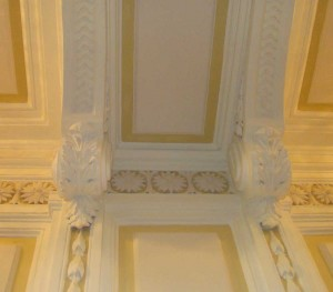 Stucco molding in a classic style