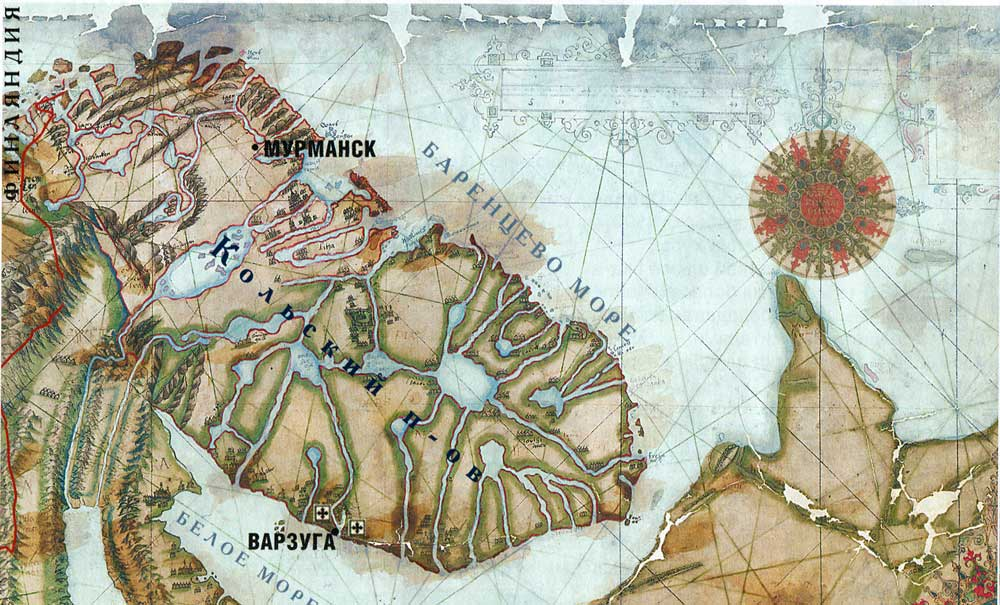 Map XVI century.