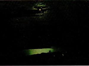AIKuindzhi (1842 - 1910). Moonlit Night pas Dnieper. 1880