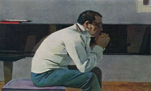 Portrait of Kara Karaev. Painting by T. T. Salakhova. 1959.