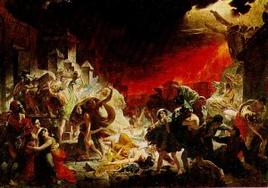Karl Briullov (1799 - 1852). Last Day of Pompeii. 1830 - 1833 years.