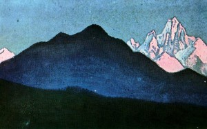 N. К. Roerich. The Himalayas. Sunset. 1940