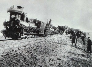 The collapse of the train