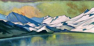 Roerich,  Mountain Lake. Bara-Lacha Pass, 1944