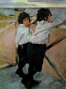 Valentin Serov (1865 - 1911). Children. 1899