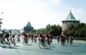 Start eines Fahrradrennens