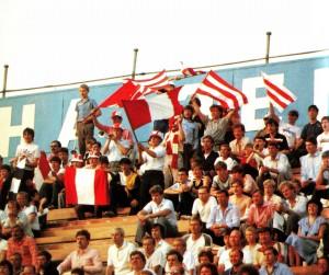 """Fans im Zentralstadion """"Lokomotive"""""""