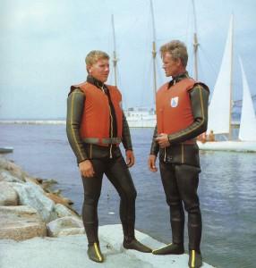 Katamaran-Segelbootsportler Dmitrij Kirillowykh und Boris Malow