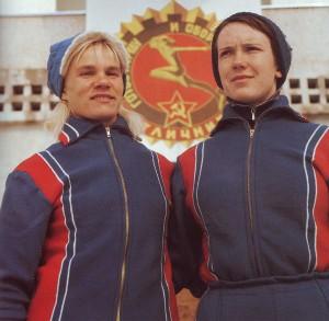 Landesmeisterinnen im GTO-Mehrkampf Natalia Bogoslowskaja und Elisaweta Starostina