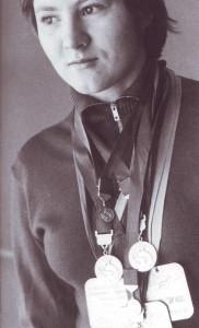 Tatjana Antonowa, Weltmeisterin und -rekordlerin im Schwimmen mit Schwimmflossen