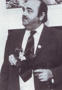 """Mr. Taylor, AlPS-Prasident, auf der ersten Internationalen Fotoausstellung in der UdSSR """"Sport ist der Bote des Friedens"""", 1975"""