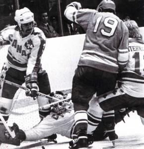 Sportpalast Lushniki in Moskau. UdSSR - Auswahl spielt gegen Profis aus Kanada