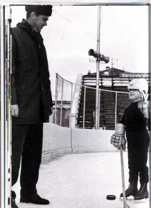 Igor Tschistowskij mit seinem Sohn Dima